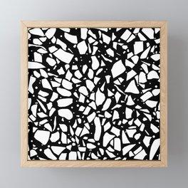 Terrazzo Spot 2 Black Framed Mini Art Print