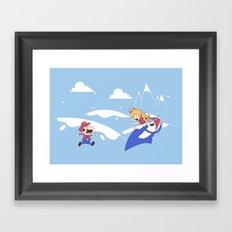 Mario's Adventure Time Framed Art Print