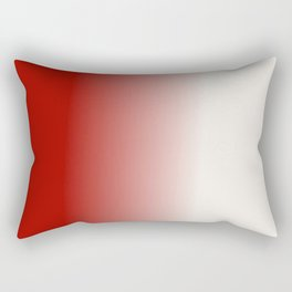Ombre in Red White Rectangular Pillow