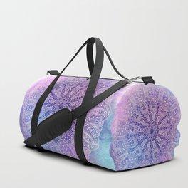 big paisley mandala in light purple Duffle Bag