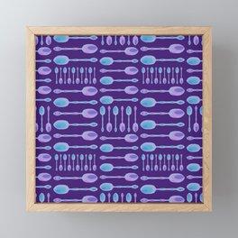 Unique Artsy Spoons! (Purple) Framed Mini Art Print