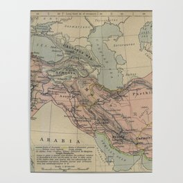 Map of Macedonion Empire Middle East Plan of Tyre from 332 BC Poster