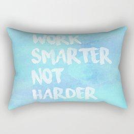 Work Smarter Not Harder Rectangular Pillow