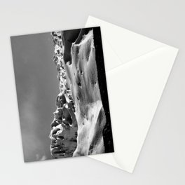 Snow black ad white Stationery Cards