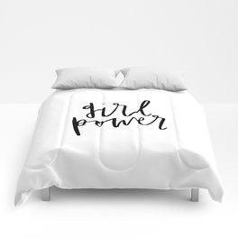 Girl Power Cursive Comforters