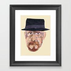 Walter White Collage Framed Art Print