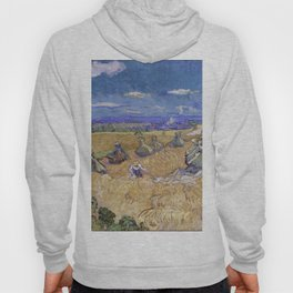 Vincent Van Gogh - Wheat Fields With Reaper, Auvers Hoody