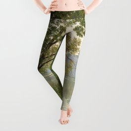 From Waters Edge - Landscape Painting Leggings