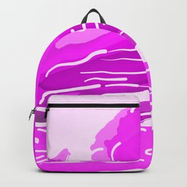 abstract style aurora borealis absdei Backpack