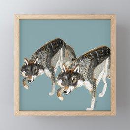 Totem Dark European Wolf Framed Mini Art Print