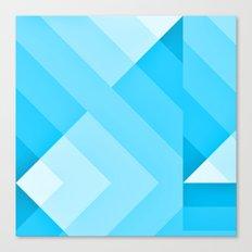 Turquoise blue  Gradient Canvas Print