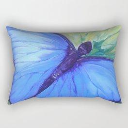 Blue Butterfly: Transfiguration Rectangular Pillow