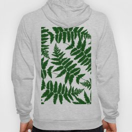 Modern abstract forest green watercolor fern floral Hoody