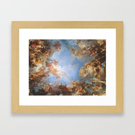 Fresco in the Palace of Versailles Framed Art Print