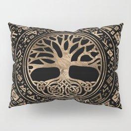 Tree of life -Yggdrasil Runic Pattern Pillow Sham
