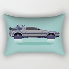 Flying Delorean Time Machine - Back to the future series Rectangular Pillow