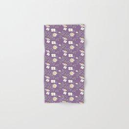 Joyful Folk Floral : Purple Hand & Bath Towel
