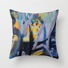 Graffiti Texture II Throw Pillow
