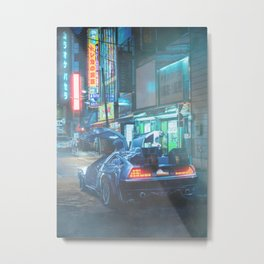 Cyberpunk streets of Tokyo Metal Print