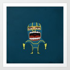 Screaming Kick-Ass Art Print