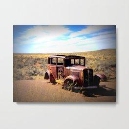 Broken Down in the Painted Desert Metal Print