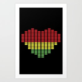 Digital Heart meter Art Print