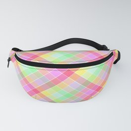 Pastel Rainbow Tablecloth Diagonal Check Fanny Pack