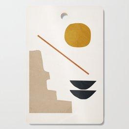 abstract minimal 6 Cutting Board