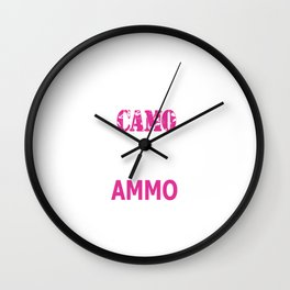 Wearing Camo and Rocking Ammo Graphic T-shirt Wall Clock