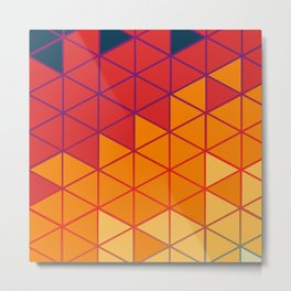 Hexagon Colors - 70's Metal Print