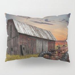 Abandoned Farmall Tractor and Barn Pillow Sham