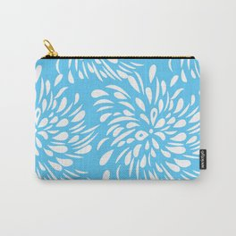 DAHLIA FLOWER RAIN DROPS TEAR DROPS SWIRLS PATTERN Carry-All Pouch