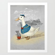Donald and Mickey Art Print