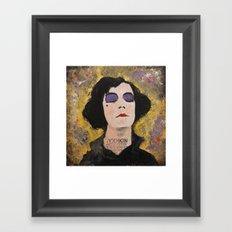 SILENT DIVA IN BACK Framed Art Print