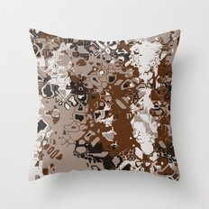 Distorted Reality Throw Pillow