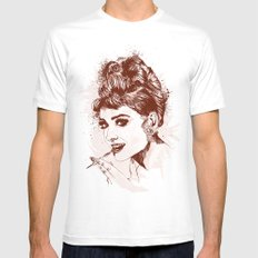 Love for Audrey White MEDIUM Mens Fitted Tee