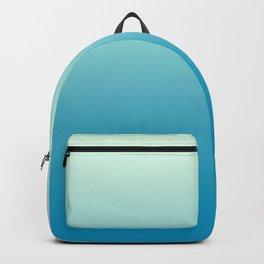 Ombre Hawaiian Ocean Blue Sea Green Gradient Motif Backpack