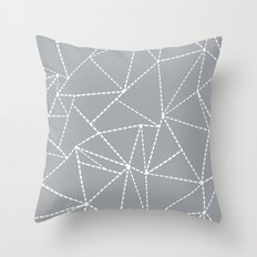 Abstract Dotted Lines Grey Throw Pillow