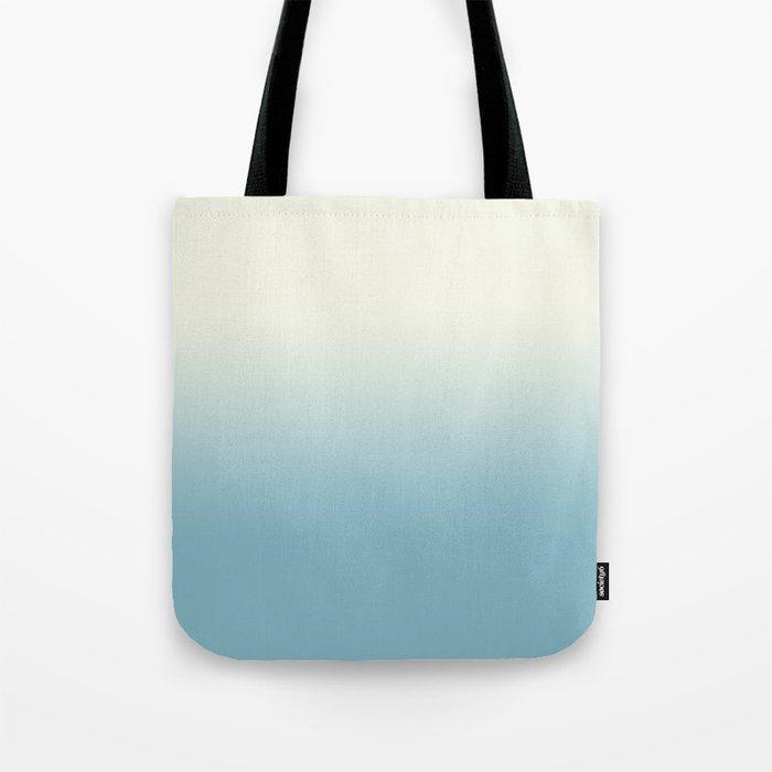 Ombre Blue Petit Four Gradient Motif Tote Bag