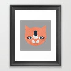Cat Face Framed Art Print