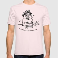 STRANDED IN PARADISE LARGE Light Pink Mens Fitted Tee
