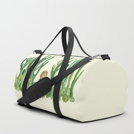 In my happy place - hedgehog meditating in cactus jungle Duffle Bag