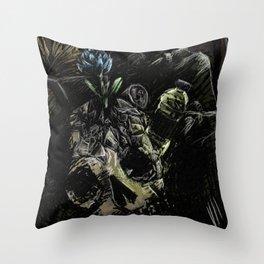 Garbage: frustration Throw Pillow