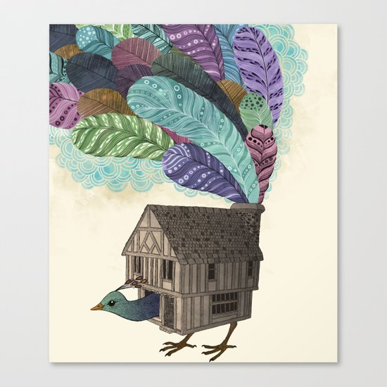 birdhouse revisited Canvas Print