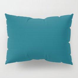 Sherwin Williams Trending Colors of 2019 Oceanside (Dark Aqua Blue) SW 6496 Solid Color Pillow Sham