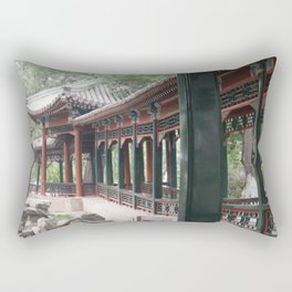 Chinese Tea House Rectangular Pillow