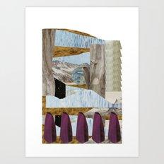 outside upside Art Print