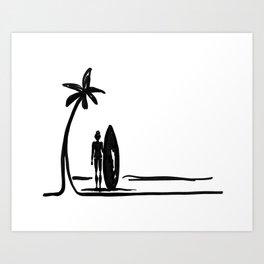 Surf Girl Daze Art Print