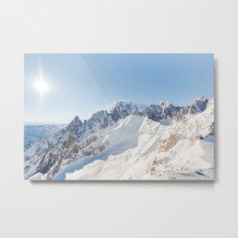 Monte Bianco / Mont Blanc mountain's beauty Metal Print