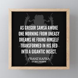 29  |  Franz Kafka Quotes | 190517 Framed Mini Art Print